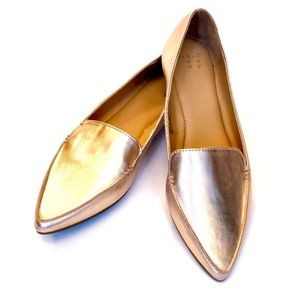 a•new•day✨NEW• Micah Pointed Toe Loafers Rose Gold